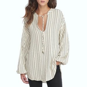 Free People Rhythm Of The Night Tunic Ivory Top